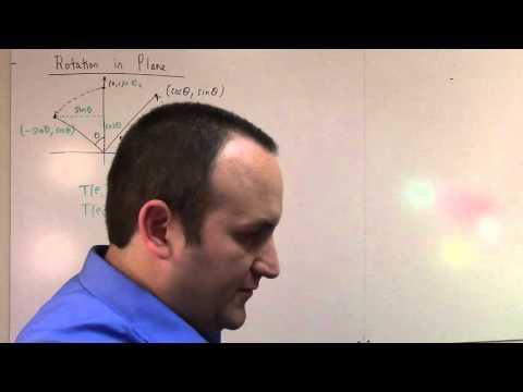 Matrix Lie Groups: Lecture 1 part 1: complex and quaternions