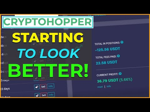 CryptoHopper Trading Bot Update – The Red is SLOWLY Turning Green – Yay!