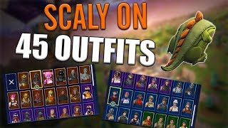 Scaly Back Bling on 45 Outfits | Rex - Fortnite