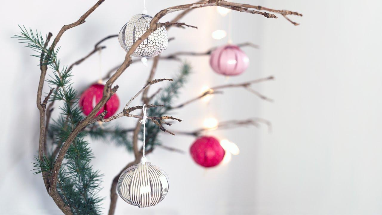 DIY: Christmas baubles by Søstrene Grene - YouTube