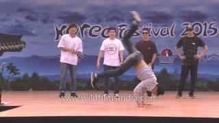 Korean B boy dance crew