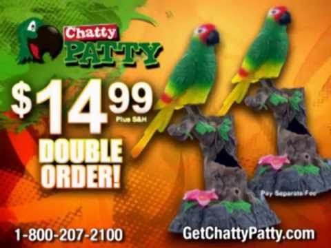 Chatty Patty Infomercial Sells A Fake Parrot Youtube