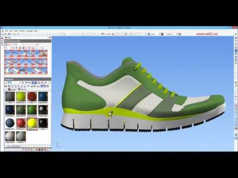 ICad3D+ Design - 3D Shoe Design software (casual/sport sample)