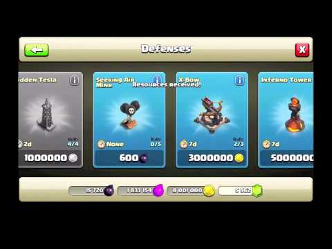 Clash of clans- Buying Townhall 10, Inferno towers, Extra Xbow...