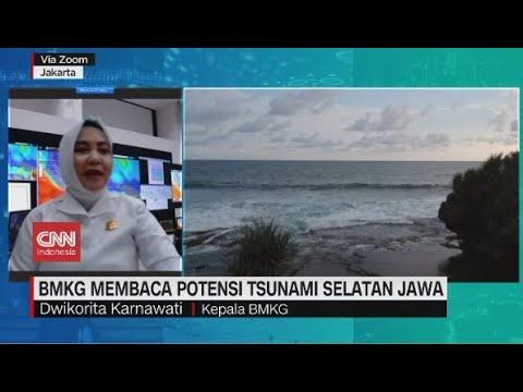 Kepala BMKG Membaca Potensi Tsunami 20 Meter Selatan Pulau Jawa