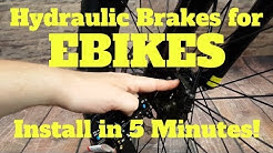 How to install Hydraulic Brakes on Ebikes in 5 minutes!  Keep your Brake switches intact