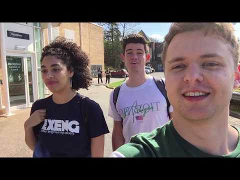 Tour of the University of Exeter with our students