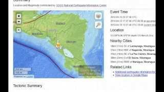 TWO Earthquakes 6.1 Mag - Nicaragua....