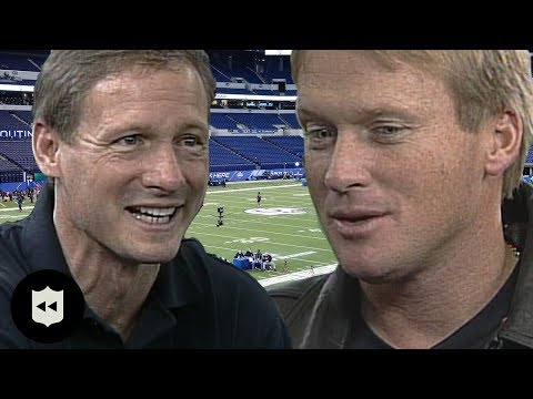 Jon Gruden Interviews with Mike Mayock at Combine! | NFL Throwback