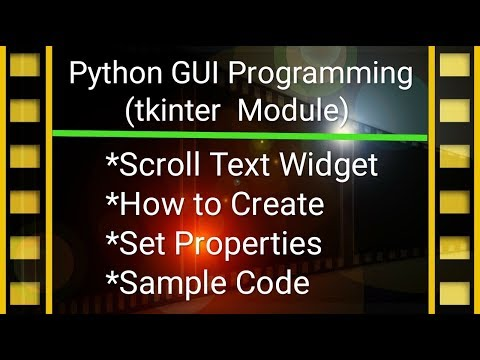Python GUI Programming Tutorial in Hindi #8 | tkinter & Scroll Text thumbnail