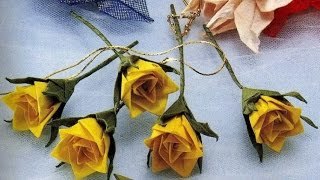 Оригами роз_Поделки из бумаги  Оригами цветы(Оригами роз_Поделки из бумаги Оригами цветы Оригами цветок из одного листа бумаги. Оригами роза для начина..., 2015-06-29T18:02:28.000Z)