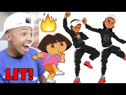 Cartoon Characters Hit JuJu On That Beat (ft. Dora, SpongeBob, Elmo, Etc)