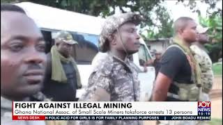 A Small Scale Miner taskforce arrests 13 people in Ghana
