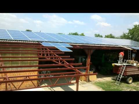 Solar power plant - construction (timelapse)