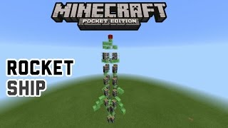 HOW TO MAKE A ROCKET SHIP IN MINECRAFT PE 0.15.2 | 0.15.2 REDSTONE CREATION | UPDATED VERSION