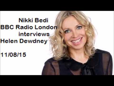 Radio London Nikki Bedi interviews Helen Dewdney