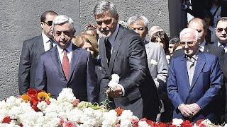 أرمينيا تحي ذكرى ما يسمى بإبادة الأرمن بحضور جورج كلوني وشارل أزنفور    24-4-2016