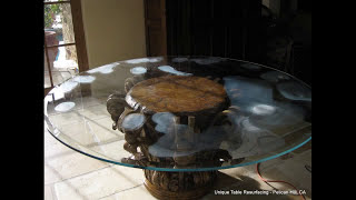 Scratched Glass Table - Glass Resurfaced + Polished - Newport Beach, CA