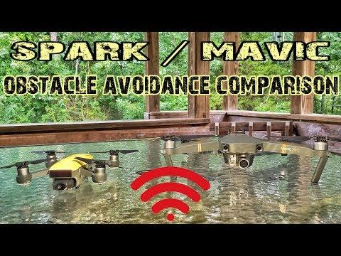 DJI SPARK / MAVIC PRO OBSTACLE AVOIDANCE COMPARISON
