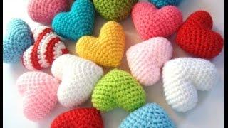 ♥Объёмное сердечко крючком♥сердце амигуруми♥Volumetric heart Valentine♥Объёмное сердце.