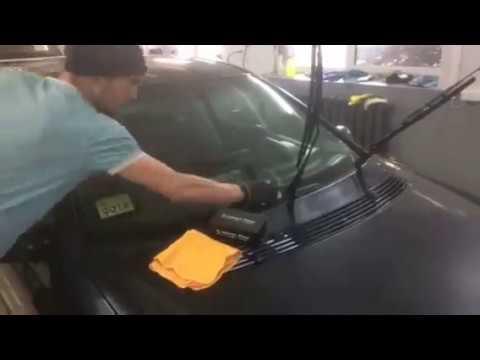Нанесение нанопокрытия жидкое стекло на лобовое стекло автомобиля