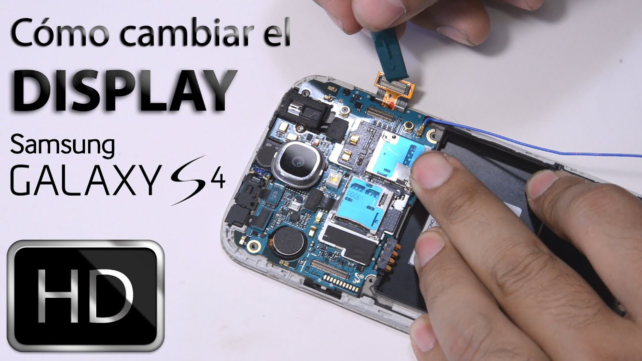 Cómo cambiar display Samsung Galaxy S4 (pantalla) - YouTube