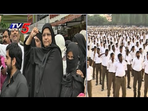 RSS Dussara Root March | RSS - Path Sanchalan March In Hyderabad | TV5 News