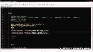 PHP ile Veritabanından Veri Çekip Ekrana Yazdırma # HD 720p # Skullcrusher.org