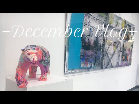 Recent art show, side hustles and natural ways I relieve anxiety + stress | December Art Vlog | 2019