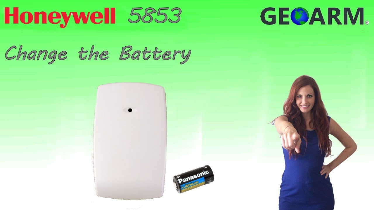 Honeywell 5853 How To Change The Batteries Youtube