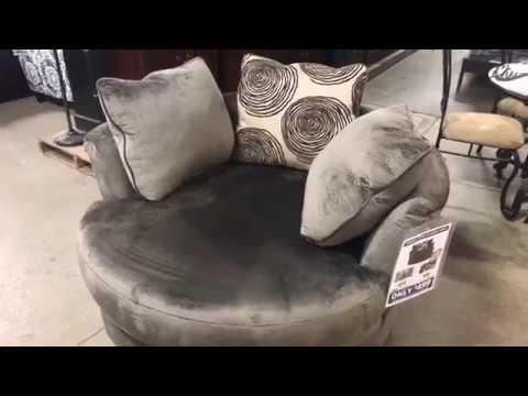 FB Live - Groovy Smoke Swivel Chair