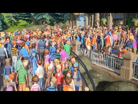 My Park is a Little Crowded :: Planet Coaster Gameplay