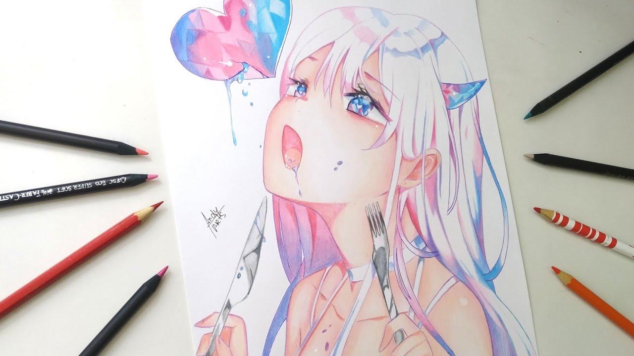 Drawing Anime Girl // Speed art //