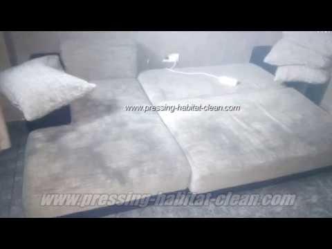 comment nettoyer un canap et fauteuil en tissus youtube. Black Bedroom Furniture Sets. Home Design Ideas