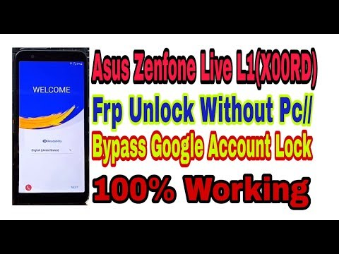 Asus Zenfone Live L1(X00RD) Frp Unlock Without PC//Bypass Google Account 100% Working  By Tech Babul