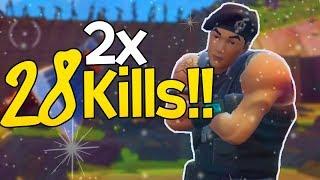 28 Kills in einer Runde... zwei mal! | Fortnite: Battle Royale Deutsch
