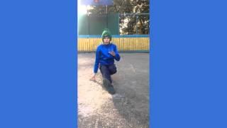 Обучение брейк дансу. Footwork. Элемент KICKSPIN. #1