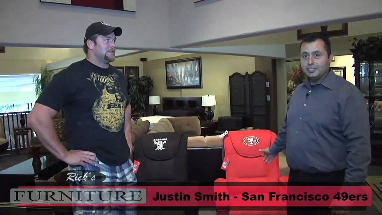 Raiders and 49ers Recliners with Justin Smith - Ricku0027s Furniture San Jose  sc 1 st  YouTube & Raiders and 49ers Recliners with Justin Smith - Ricku0027s Furniture ... islam-shia.org