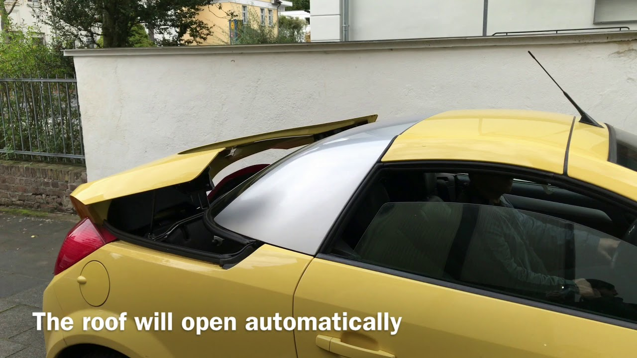 How To Open And Close The Retractable Steel Roof Vauxhall
