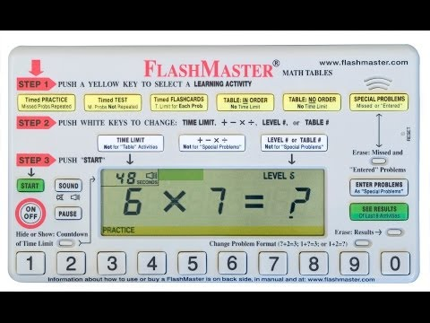 FlashMaster® Math Tables: What It Does and How It Works to Teach Math Facts