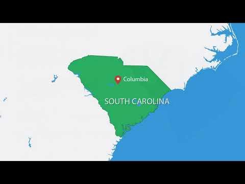 South Carolina USA PowerPoint maps - USA maps