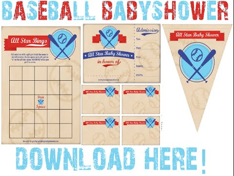 Baseball Baby Shower Decorations U0026 Invitations!