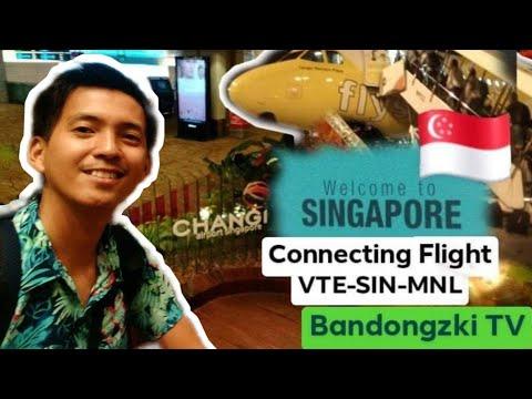 CHANGI AIRPORT SINGAPORE || Connecting Flight VTE- SIN- MNL || Bandongzki TV