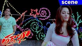 Naga Chaitanya and Tamannah Comedy Scene with Rama Prabha - Tadakha Movie Scenes