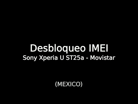 Desbloqueo IMEI Sony Xperia U st25a - Movistar