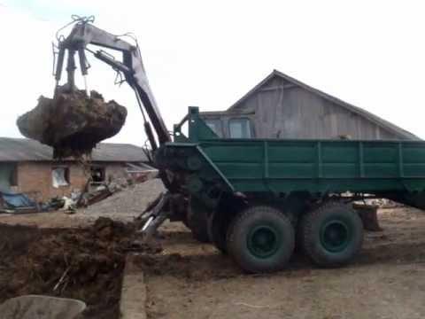 Долгий пуск трактора МТЗ-80 зимой! - YouTube
