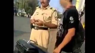 Indian Police taking bribe from a college student