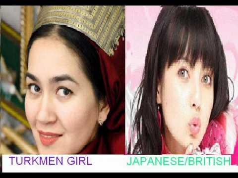 Uzbek and turkmen VS Eurasian people