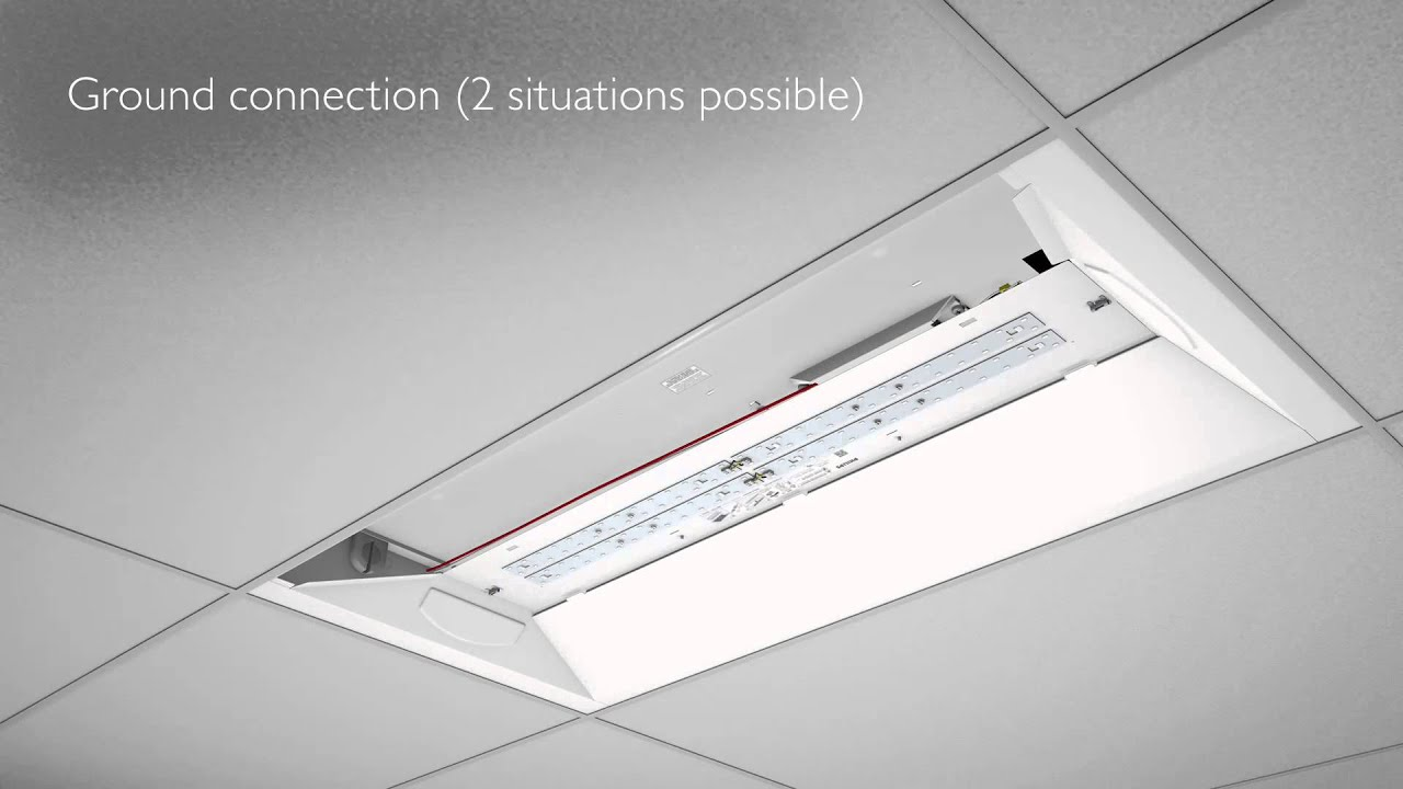 Ceiling Troffer Wiring Diagram Not Lossing Light Fixture Video Philips Evokit Animated Installation Youtube Rh Com And Fan Regulator Circuit Schematic Of Connection Standard Electrical