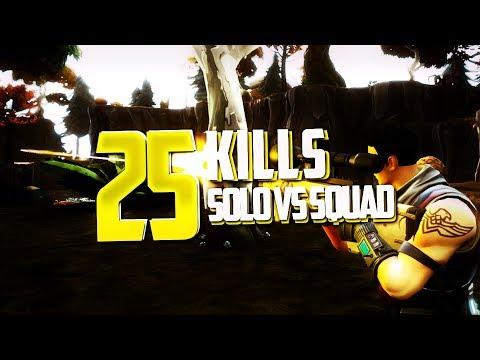 SOLO VS SQUAD 25 KILLS WIN - INSANE GAME - BATTLE ROYAL - FORTNITE FR